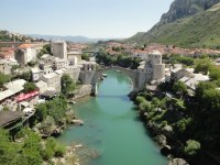 View from the Koski Mosque minaret, Mostar, Stari most