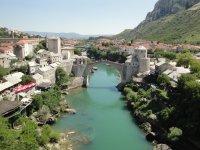 View from the Koski Mosque minaret, Mostar, Stari most