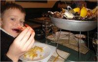 Cafe de Turin, Nice, seafood platters