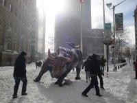 New York snow, Wall Street
