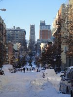 Morningside Heights, Harlem in the snow
