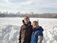 Central Park covered in fresh snow