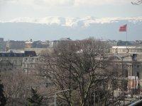 Geneva with the Alps