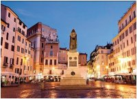 Rome's Campo dei fiori, one of the settings of my story