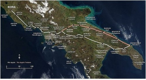Google map of the Appia antica