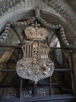 The Scwrazenberg family shield - all in bones