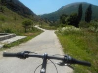 Mountain biking, Abruzzo, Italy