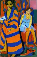 Ernst Ludwig Kirchner, Self-Portrait with Model