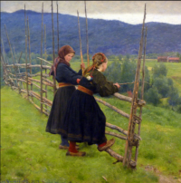 Two girls on a plain, 1883