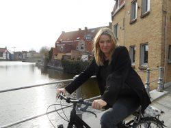 Biking in Bruges, Belgium