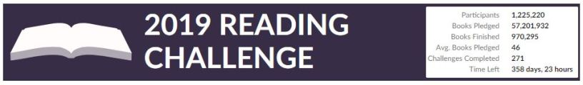 Image result for 2019 goodreads reading challenge